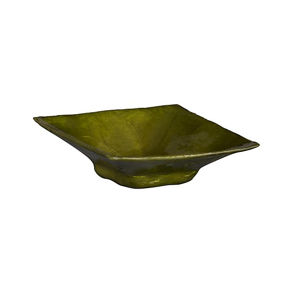 "Capiz Green 3"" Square Dish"