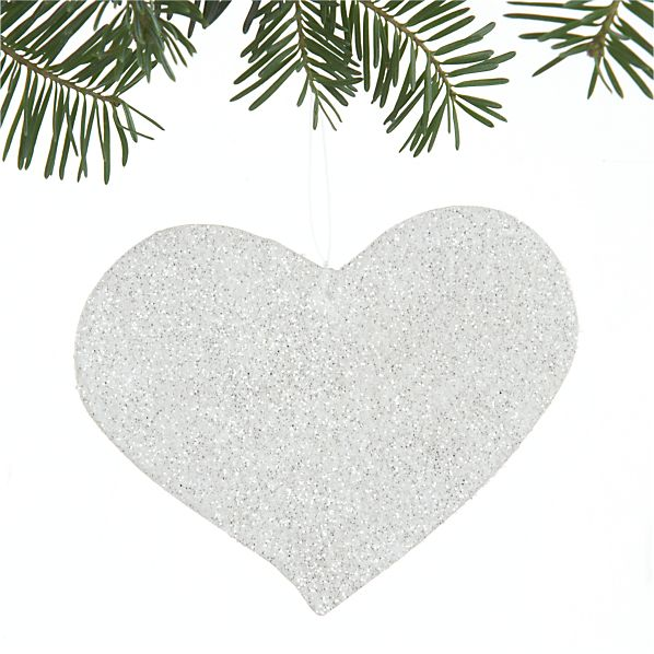 Capiz Shell Glitter Heart Ornament