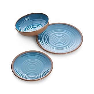 Caprice Blue Melamine Dinnerware