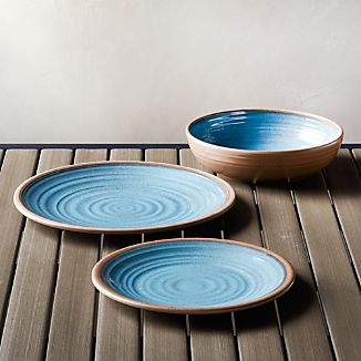 Caprice Blue Melamine Dinnerware