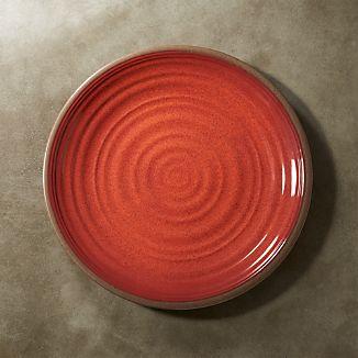 """Caprice Chili Red Melamine 10.5"""" Dinner Plate"""