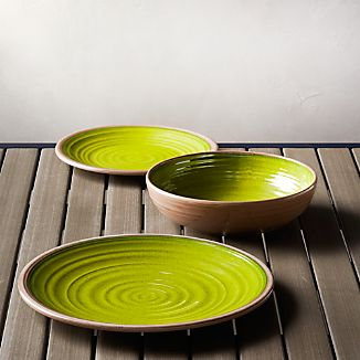 Caprice Green Melamine Dinnerware