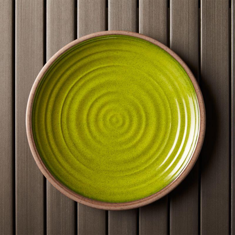 "Caprice Green 10.5"" Melamine Plate"
