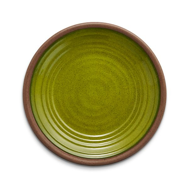 CapriceGreenMelaminePlate8p5inS16
