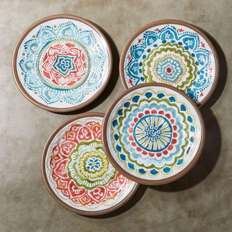 Set Of 4 Caprice 8 5 Quot Melamine Salad Plates Crate And Barrel