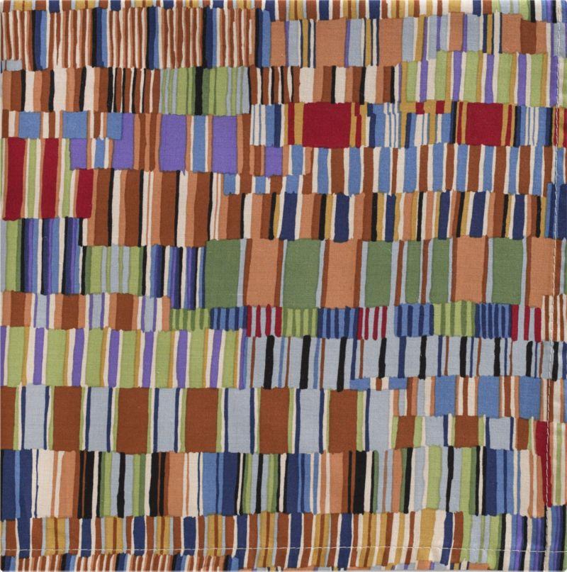 Artistic grid of watercolor hues refreshes the table in tonal blues, greens and browns and a casual modern pattern.<br /><br /><NEWTAG/><ul><li>100% cotton</li><li>Machine wash; warm iron as needed</li><li>Made in USA</li></ul>
