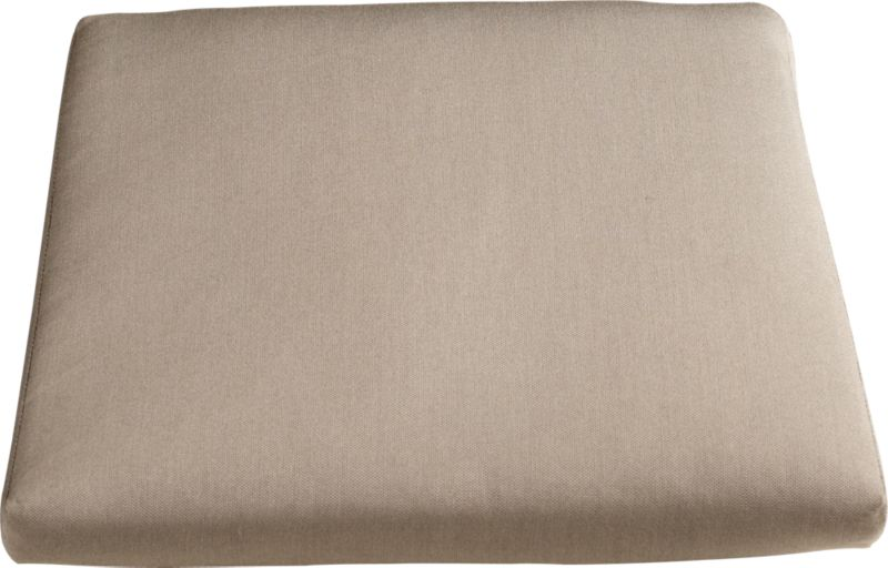 Add the smart Sunbrella® acrylic pillow with clean, no-welt styling in a lighter neutral. Plush cushion has a removable cover with self-covered fabric tab fasteners.<br /><br /><NEWTAG/><ul><li>100% Sunbrella acrylic</li><li>Foam core poly wrap fill with non-woven insert cover</li><li>Zipper closure</li><li>Self-covered fabric tab fasteners</li><li>Fade- and mildew-resistant</li><li>Spot clean</li><li>Made in USA</li></ul>