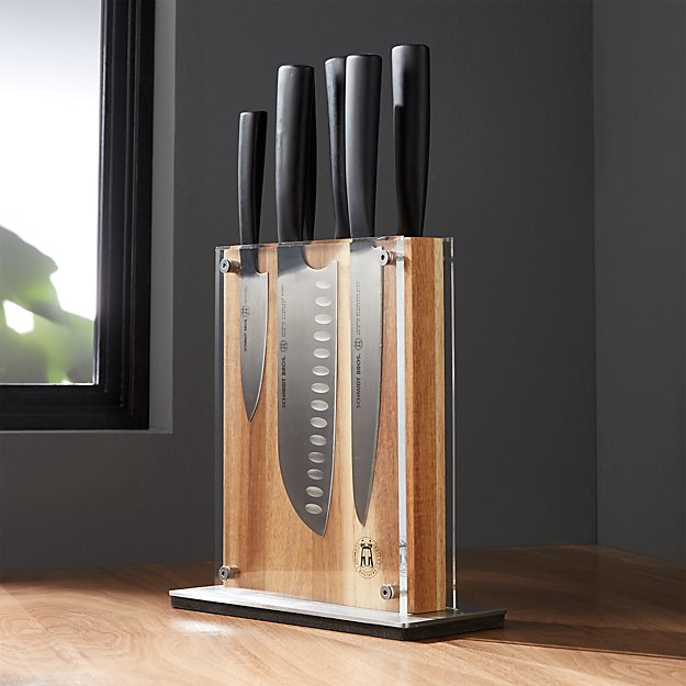 Schmidt Brothers ® 7-Piece Carbon6 Knife Block Set