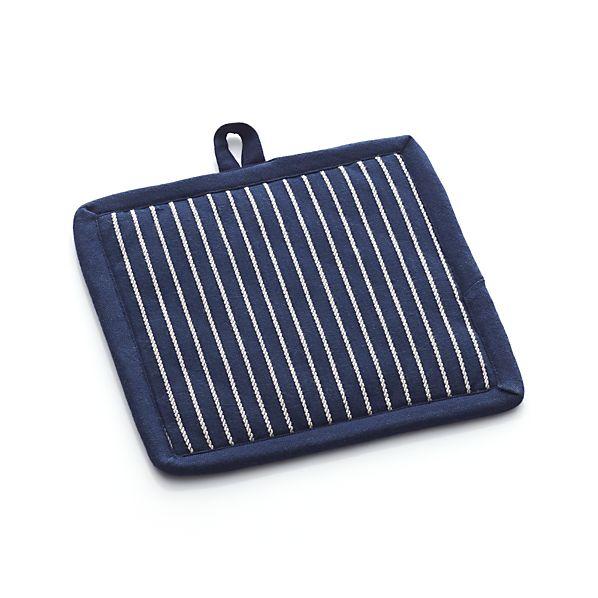 Carbon Blue Stripe Pot Holder