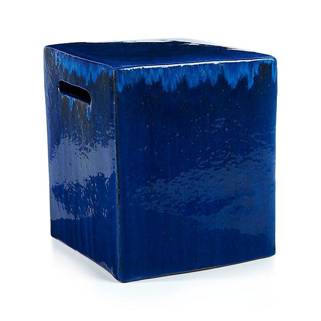 Carilo Cobalt Garden Stool Crate And Barrel