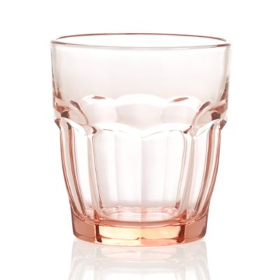 Carley Pink Double Old-Fashioned Glass