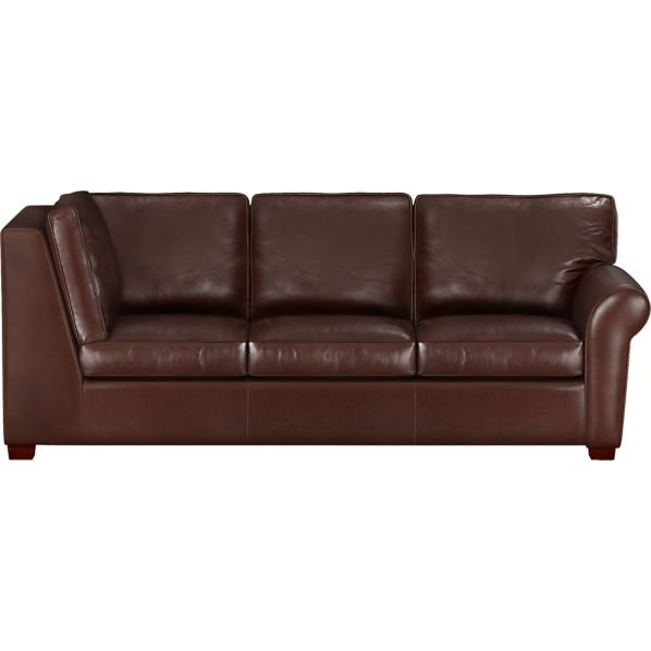 Carlton Leather Sectional Left Arm Corner Sofa