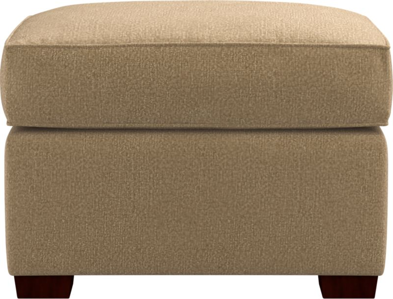 Clean lines give this storage ottoman a modern attitude that fits in any room. Plump cushioning for sink-in comfort. Pair it with its companion stand-alone or sectional pieces, all with firm but plump support. Spring-assisted hinged lid locks open for easy access. Hardwood legs have a walnut finish.<br /><br />After you place your order, we will send a fabric swatch via next day air for your final approval. We will contact you to verify both your receipt and approval of the fabric swatch before finalizing your order.<br /><br /><NEWTAG/><ul><li>Eco-friendly construction</li><li>Kiln-dried wood frame</li><li>Cushion is soy-based polyfoam wrapped in downproof ticking</li><li>Hardwood legs have a walnut finish</li><li>Self-welt detail</li><li>Spring-assisted hinged lid locks open</li><li>Benchmade</li><li>See additional frame options below</li></ul>