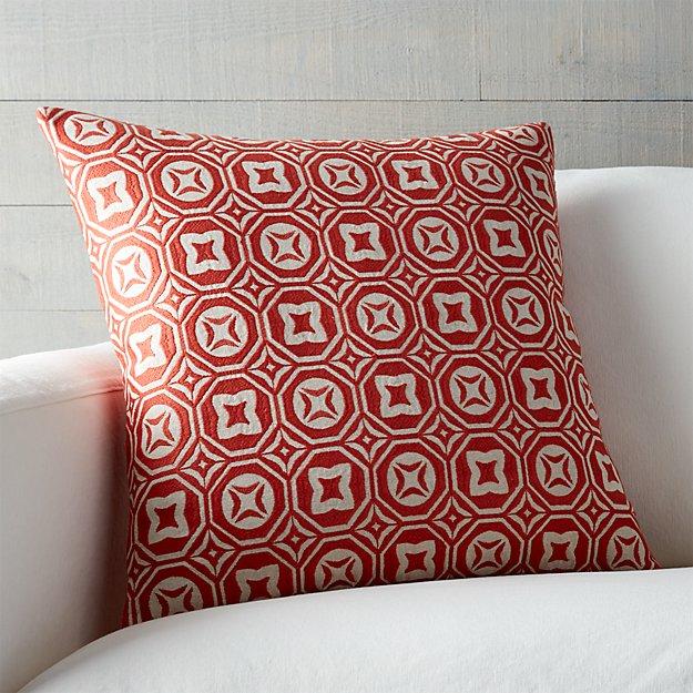 Orange Throw Pillows Crate And Barrel : Caro Orange 20