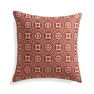 "Caro Orange 20"" Pillow with Down-Alternative Insert"
