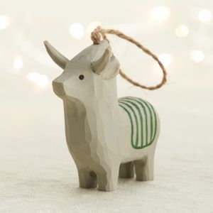 Carved Wood Donkey Ornament