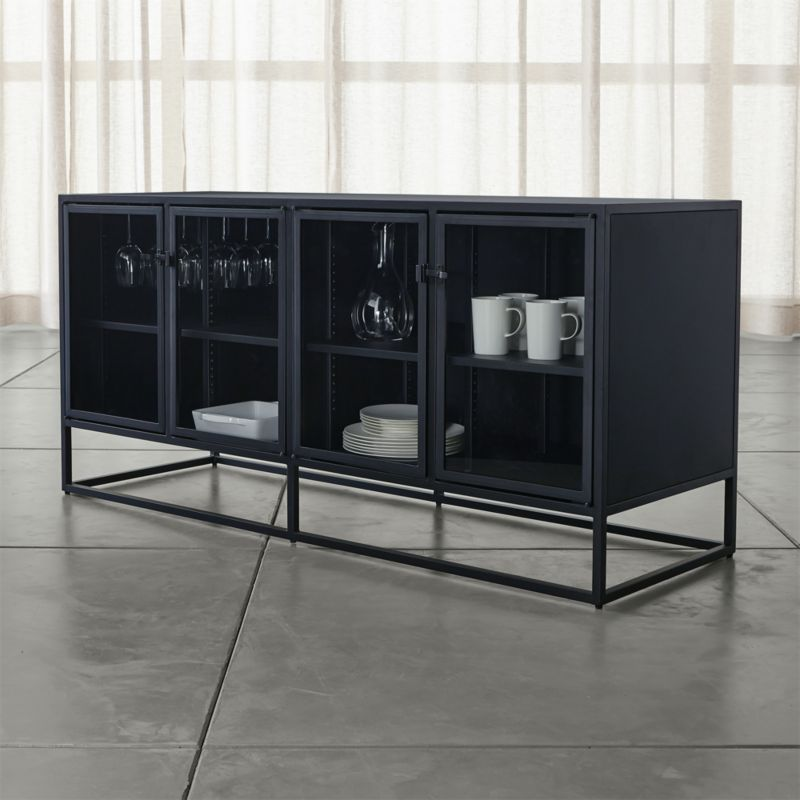 Casement Black Large Sideboard Crate And Barrel