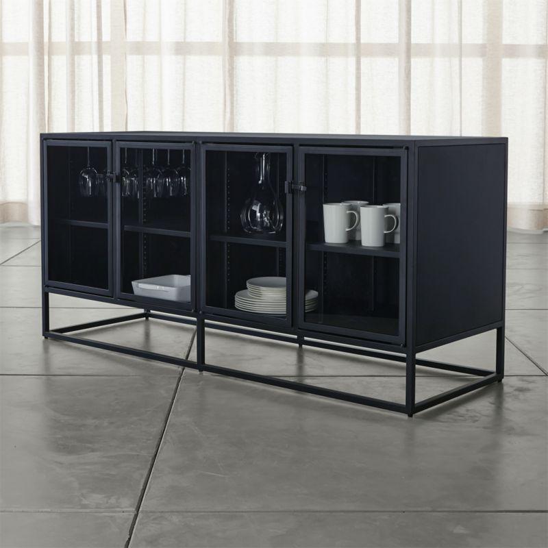 Inspired by the clean lines of vintage French casement windows, Casement's narrow footprint allows for maximum storage behind clear glass doors. <NEWTAG/><ul><li>Designed by Paul Schulman of Schulman Design</li><li>Steel with powdercoat finish</li><li>4 glass front doors</li><li>4 adjustable metal shelves</li><li>Stemware rack</li><li>6 levelers on base</li><li>Made in China</li></ul><br />