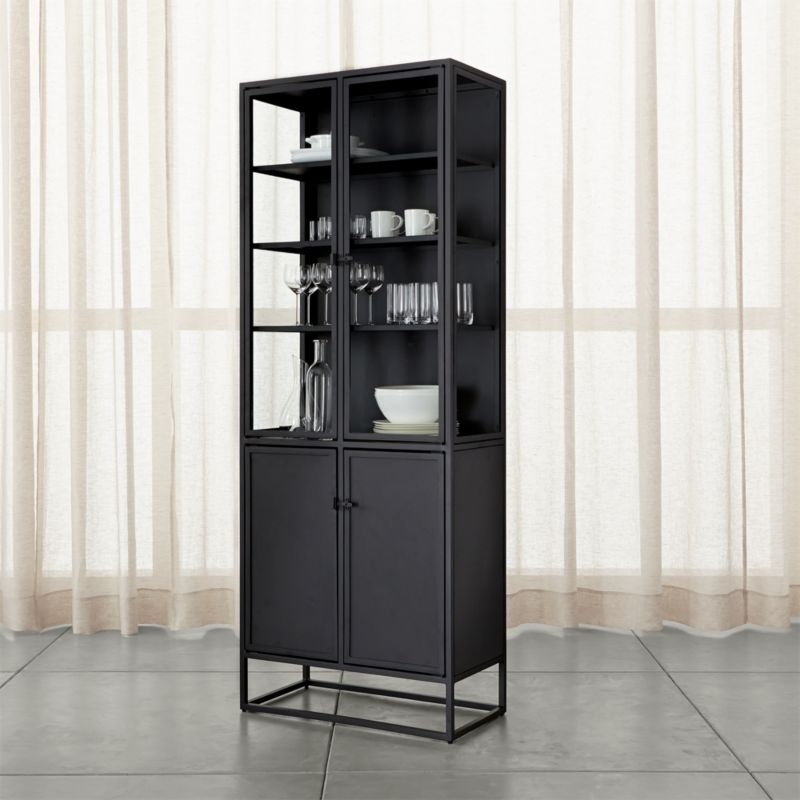 Casement Black Tall Cabinet Crate And Barrel