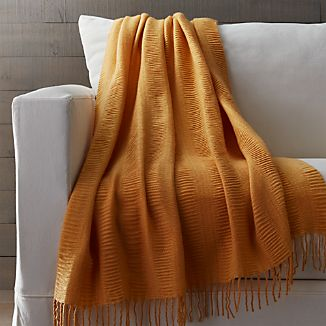 Casey Maize Yellow Throw