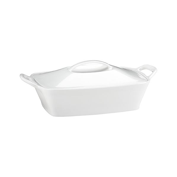Rectangular Casserole with Lid