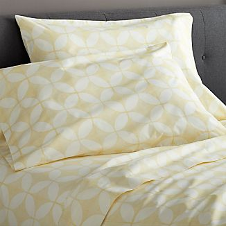 Cate Yellow Extra-Long Twin Sheet Set