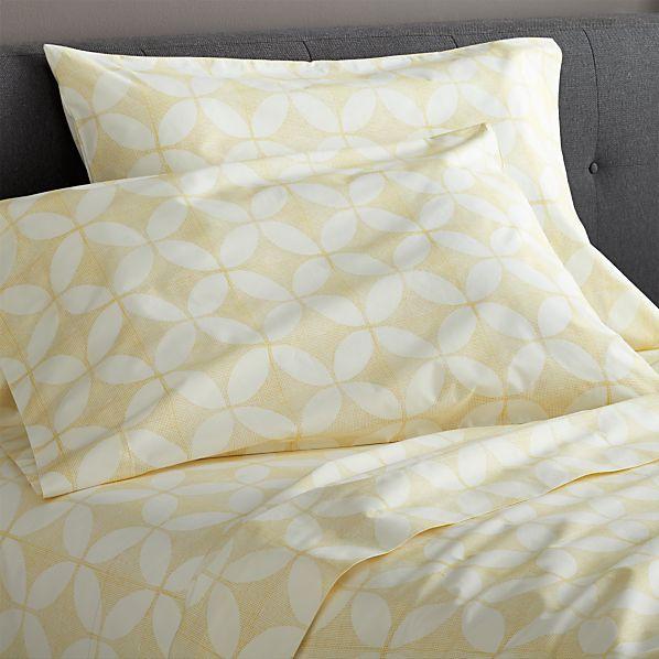 Cate Yellow King Sheet Set