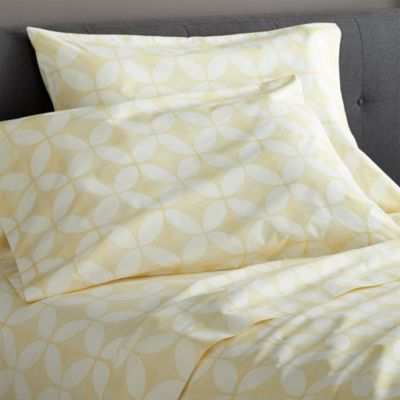 Cate Yellow Queen Sheet Set