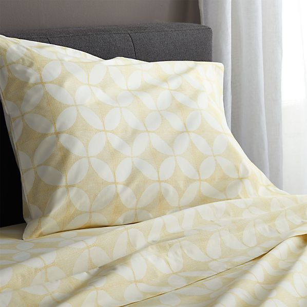Cate Yellow Twin Sheet Set