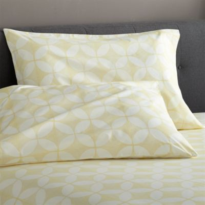 Cate Yellow Standard Pillowcases Set of Two