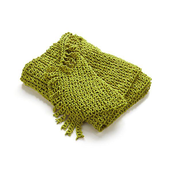 Catena Green Throw