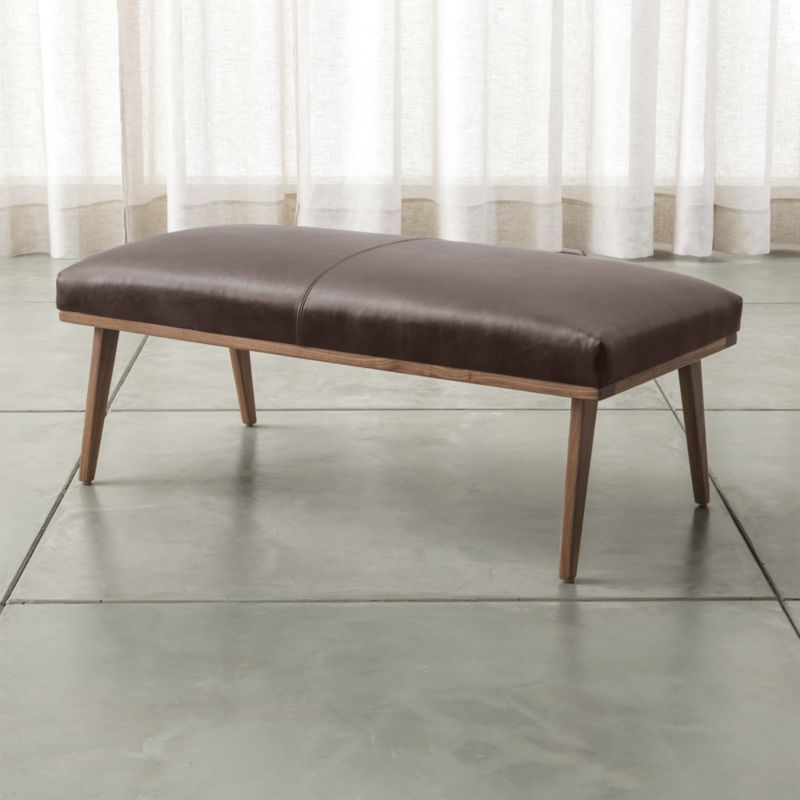 Cavett Leather Bench