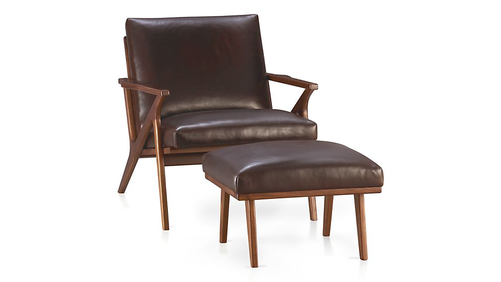 Cavett Leather Chair Libby Sumatra Crate And Barrel
