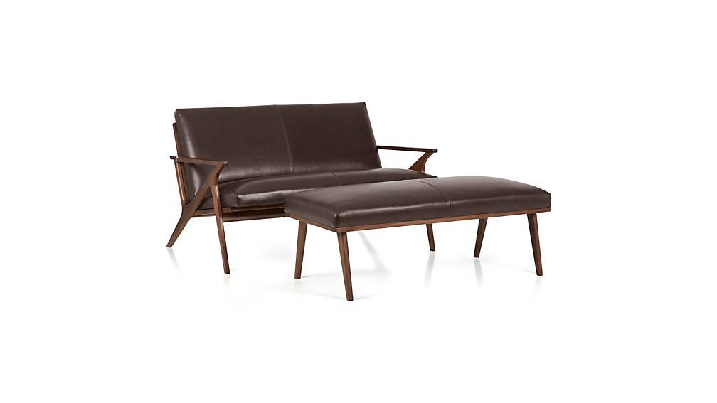 Cavett Leather Bench
