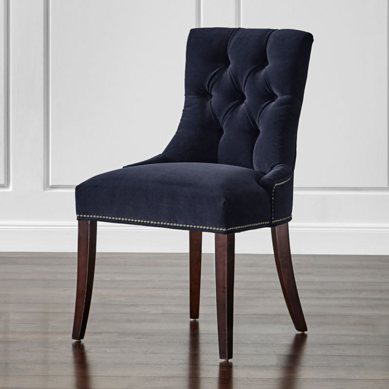 cecelia velvet dining chair vineyard navy crate and barrel gray velvet dining chairs transitional dining room
