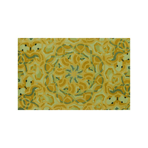 Cecily Ochre Yellow Wool 5'x8' Rug
