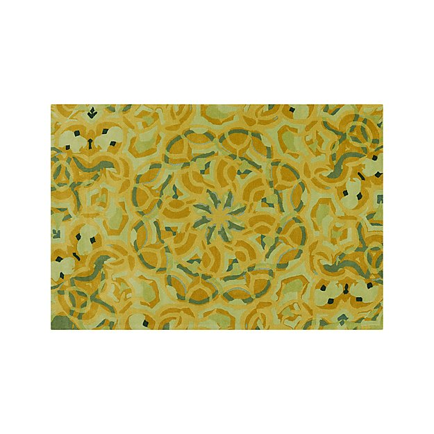 Cecily Ochre Yellow Wool 6'x9' Rug