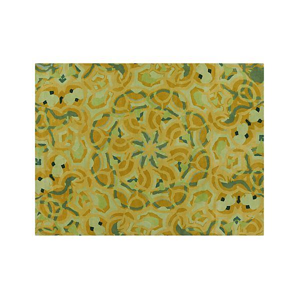 Cecily Ochre Yellow Wool 9'x12' Rug