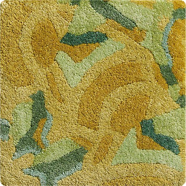 "Cecily Ochre Yellow Wool 12"" sq. Rug Swatch"