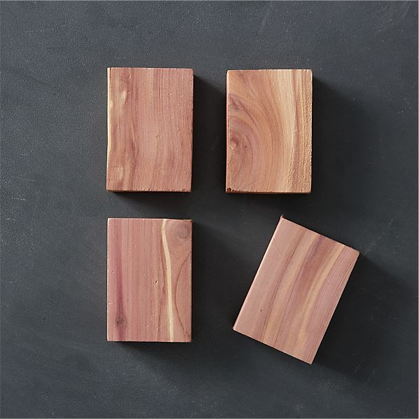 Set of 4 Cedar Blocks