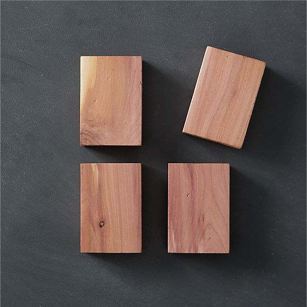 Set of 4 Lavender Cedar Blocks