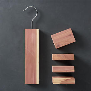 Cedar Hang-Up/Cedar Blocks Set of Four -...
