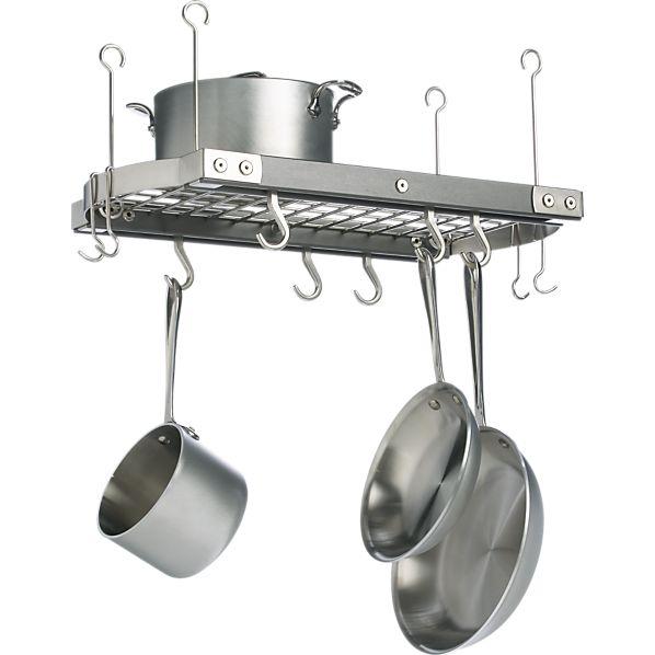 J.K. Adams Small Grey Ceiling Pot Rack