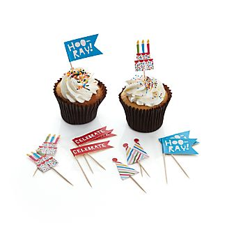 Set of 12 Celebration Cake Toppers