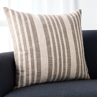 "Celena Grey Stripe 23"" Pillow"