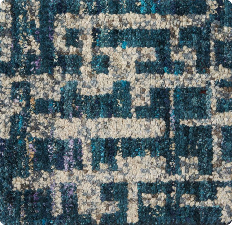 "Celosia Indigo Blue Hand Knotted 12"" sq. Rug Swatch"