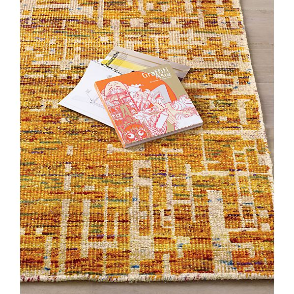 Celosia Orange Hand Knotted Rug