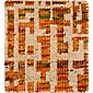 "Celosia Orange  Hand Knotted 12"" sq. Rug Swatch"