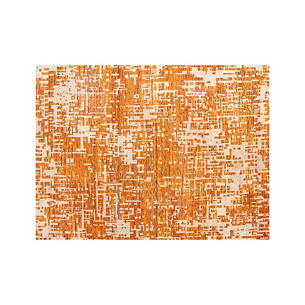 Celosia Orange Hand Knotted 10'x14' Rug