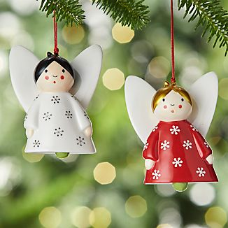 Ceramic Angel Bell Ornaments
